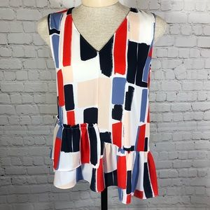 Halogen Asymmetrical Blouse XS